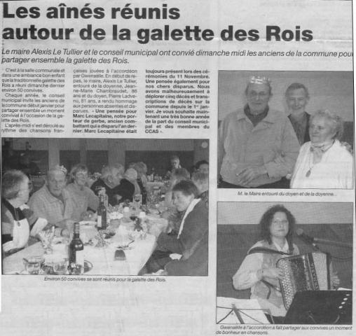 Plabennec - Les aînés réunis autour de la galette des Rois (jan 2004) gwennaelle le grand