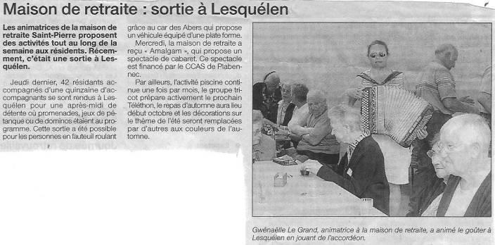 Plabennec - Maison de retraite: sortie à Lesquélen (sept 2004) gwennaelle le grand